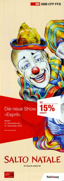 Salto Natale Circus Ticket/Flyer - Switzerland 2018