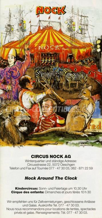 Nock Circus Ticket/Flyer -  1997