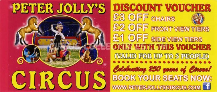 Peter Jolly's Circus Circus Ticket/Flyer - England 2018