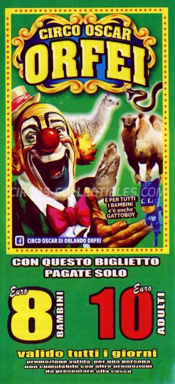 Oscar Orfei Circus Ticket/Flyer - Italy 2018