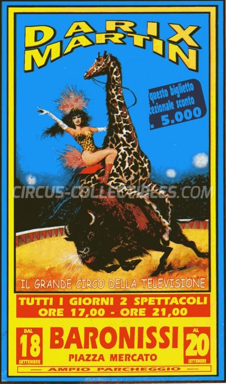 Darix Martin Circus Ticket/Flyer - Italy 0