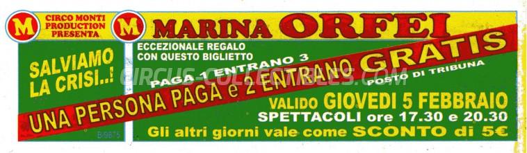 Marina Orfei Circus Ticket/Flyer -  1998