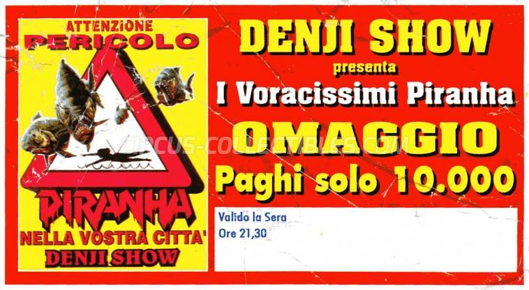 Denji Show Circus Ticket/Flyer -  0