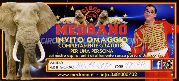 Medrano (Casartelli) Circus Ticket/Flyer -  2017