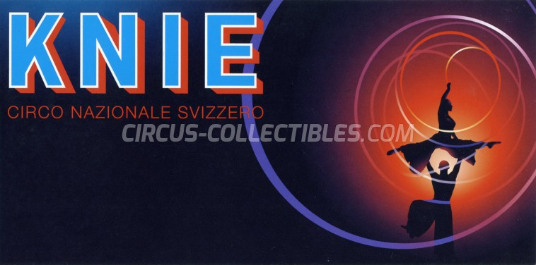 Knie Circus Ticket/Flyer -  2008