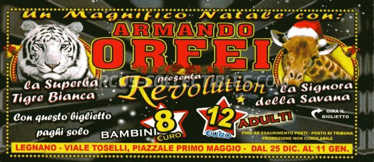 Armando Orfei Circus Ticket/Flyer - Italy 2017