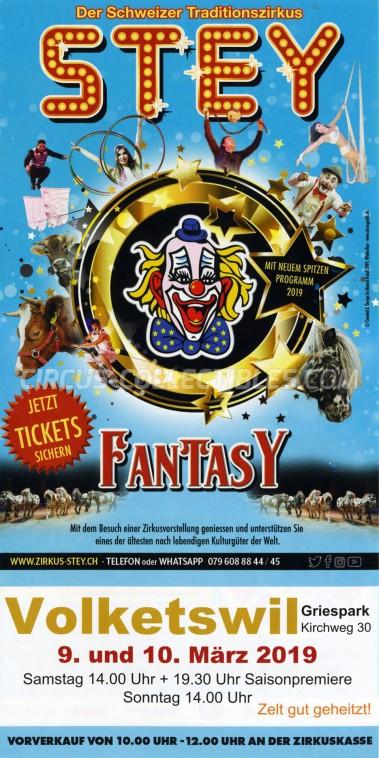Stey Circus Ticket/Flyer - Switzerland 2019