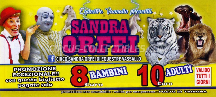 Sandra Orfei Circus Ticket/Flyer - Italy 2019