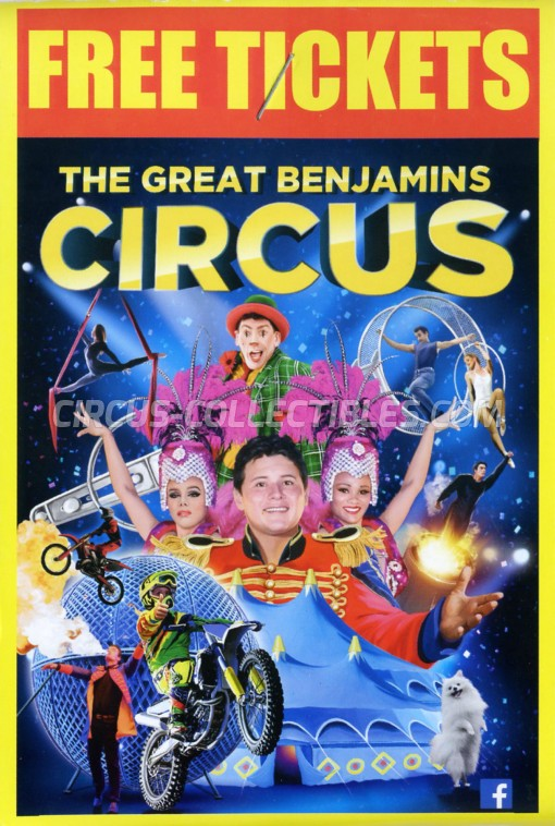 The Great Benjamins Circus Circus Ticket/Flyer -  2019