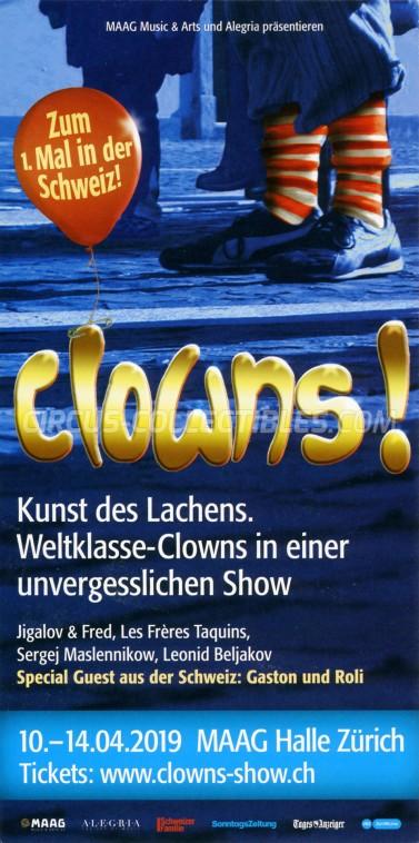Clowns Circus Ticket/Flyer - Switzerland 2019