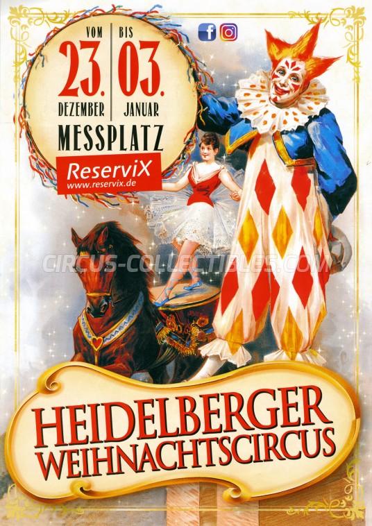 Heidelberger Weihnachtscircus Circus Ticket/Flyer - Germany 2017
