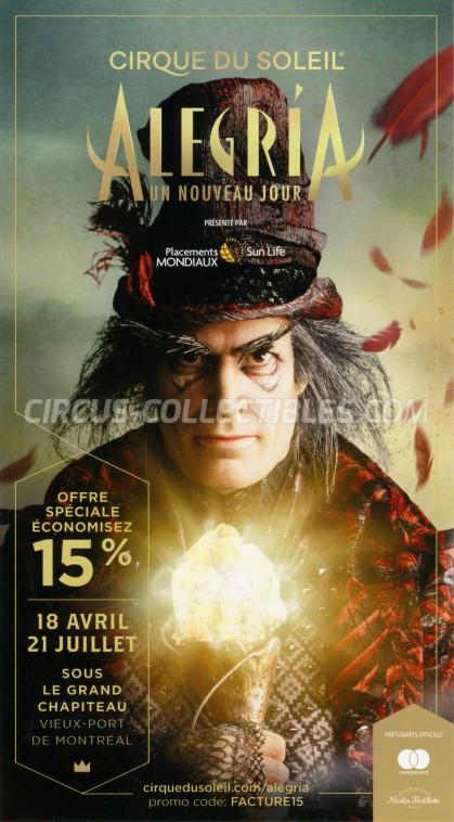 Cirque du Soleil Circus Ticket/Flyer - Canada 2019