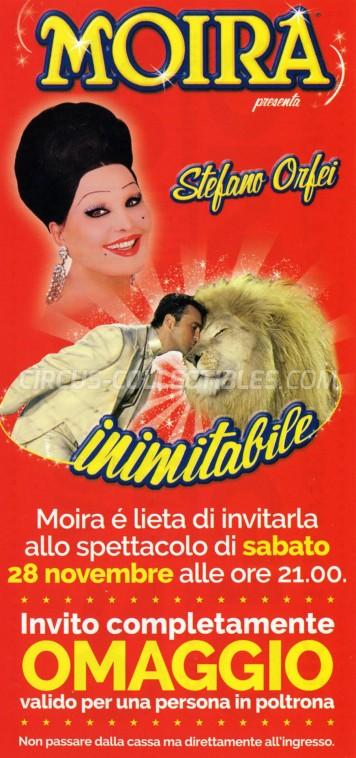 Moira Orfei Circus Ticket/Flyer - Italy 2015