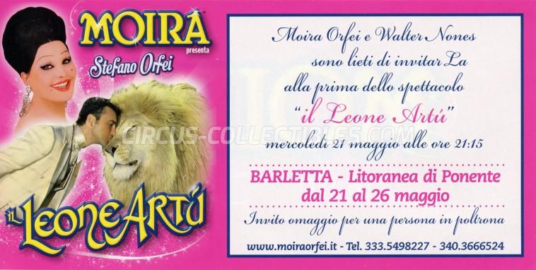 Moira Orfei Circus Ticket/Flyer - Italy 2014