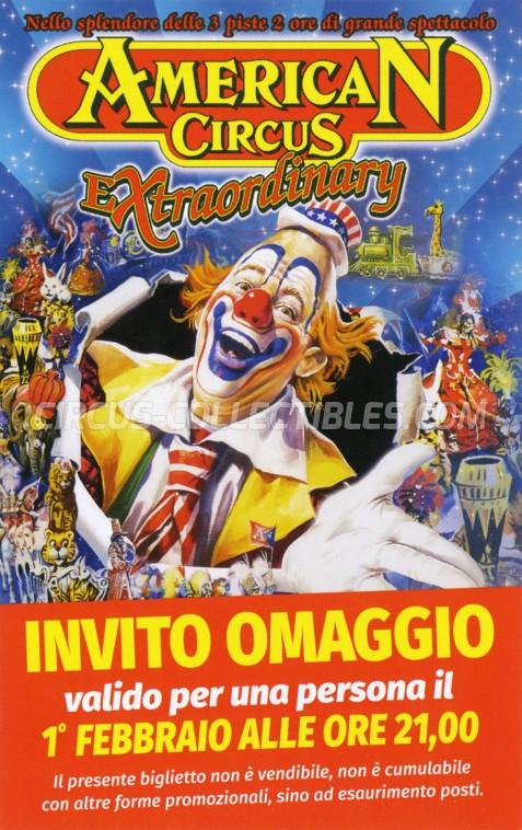 American Circus Circus Ticket/Flyer - Italy 2018