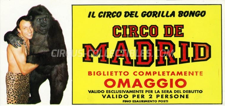 Circo de Madrid Circus Ticket/Flyer -  1994