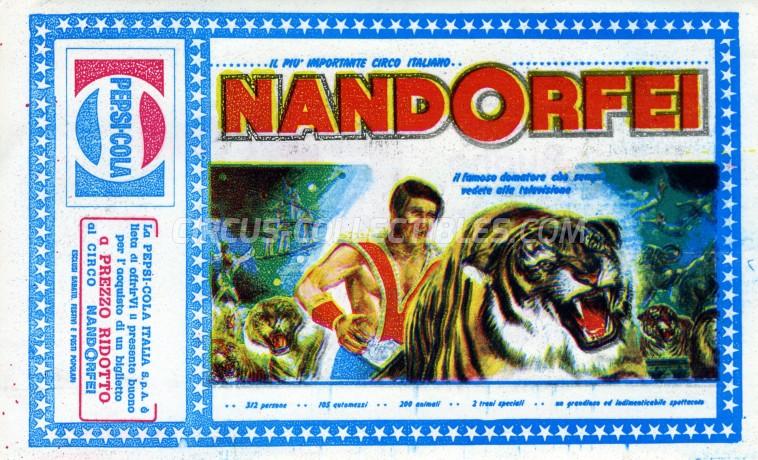 Nando Orfei Circus Ticket/Flyer -  0