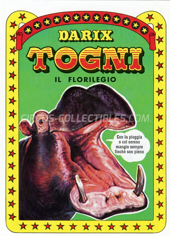 Darix Togni Circus Ticket/Flyer -  0