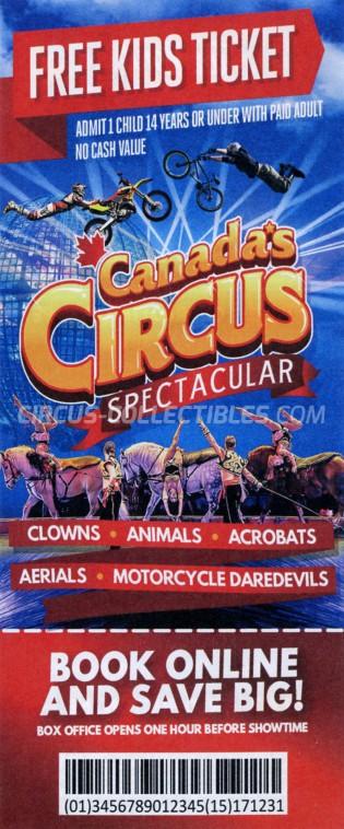Canada's Circus Spectacular Circus Ticket/Flyer -  2019