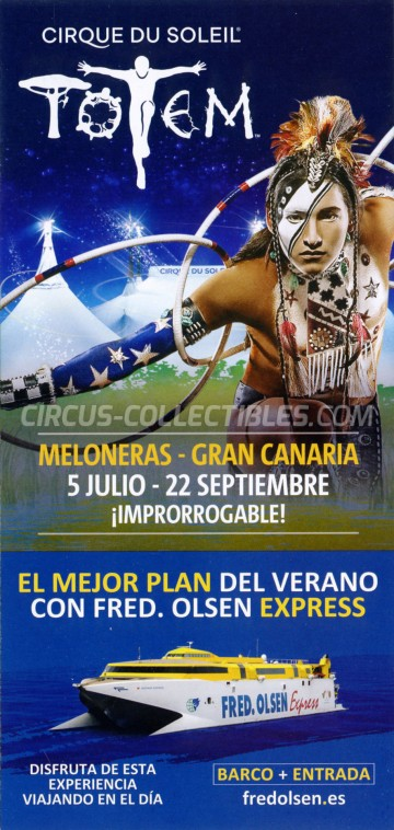 Cirque du Soleil Circus Ticket/Flyer - Spain 2019