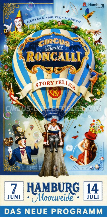 Roncalli Circus Ticket/Flyer - Germany 2019