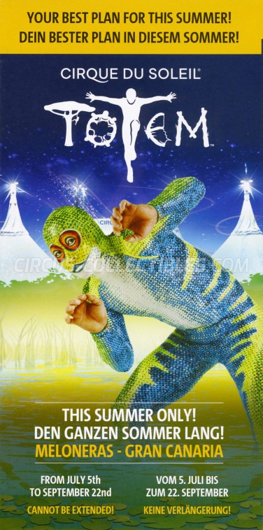 Cirque du Soleil Circus Ticket/Flyer - Spain 2019