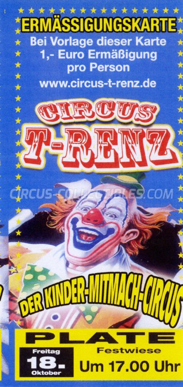 T-Renz Circus Ticket/Flyer - Germany 2019
