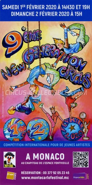 Festival International du Cirque de Monte-Carlo Circus Ticket/Flyer -  2020