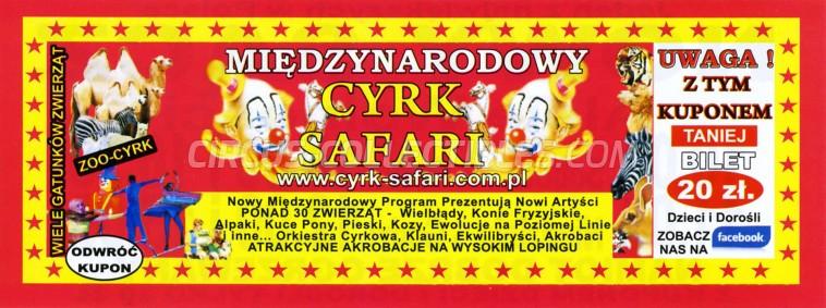 Safari (PL) Circus Ticket/Flyer - Poland 2018