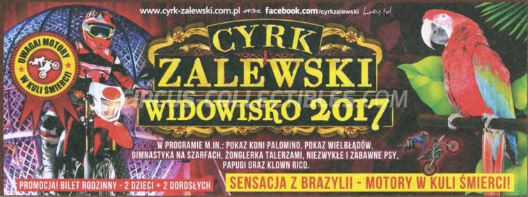 Zalewski Circus Ticket/Flyer - Poland 2017