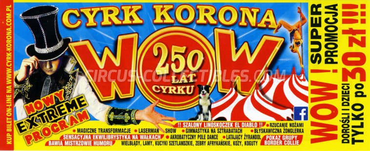 Korona Circus Ticket/Flyer - Poland 2018