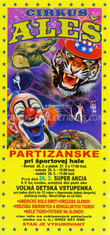 Aleš Circus Ticket/Flyer - Slovakia 2015
