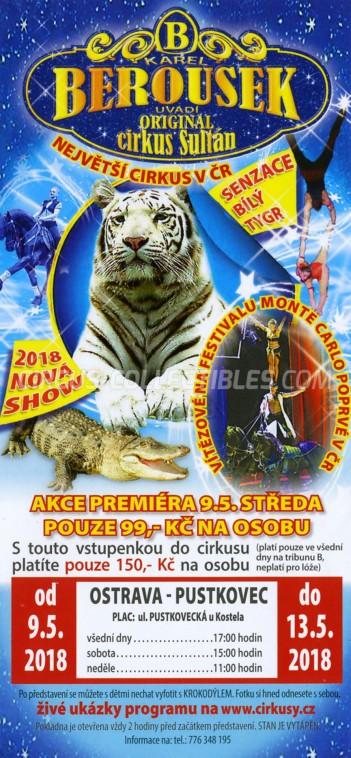 Berousek Circus Ticket/Flyer - Czech Republic 2018
