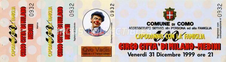 Medini - Circo Citta' Di Milano Circus Ticket/Flyer - Italy 1999