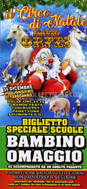 David Orfei Circus Ticket/Flyer - Italy 2018