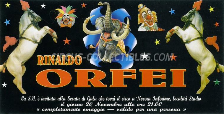 Rinaldo Orfei Circus Ticket/Flyer - Italy 2012