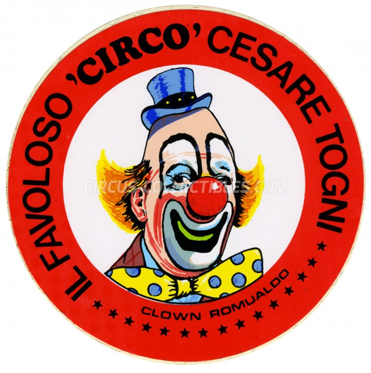 Cesare Togni Circus Ticket/Flyer -  0