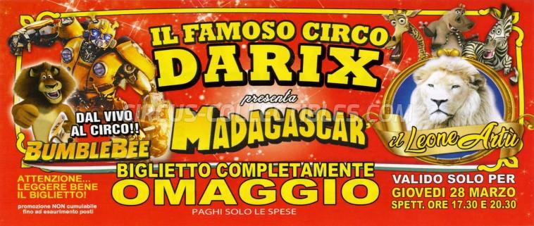 Darix Martin Circus Ticket/Flyer - Italy 2019