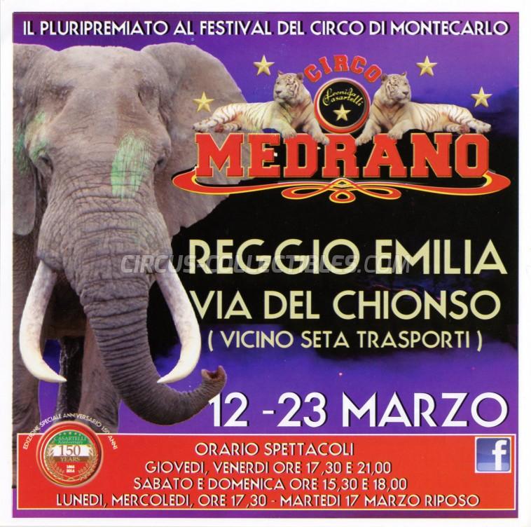 Medrano (Casartelli) Circus Ticket/Flyer - Italy 2015