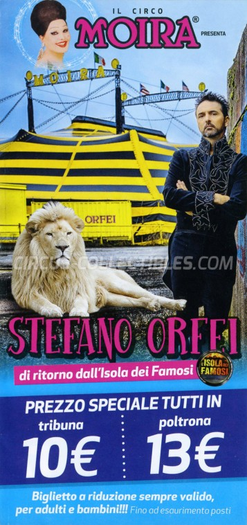 Moira Orfei Circus Ticket/Flyer - Italy 2016