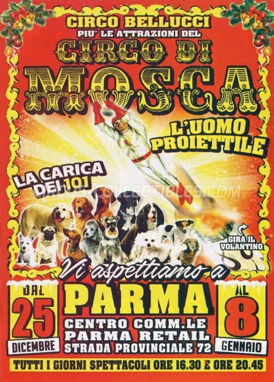 Bellucci Circus Ticket/Flyer - Italy 2016