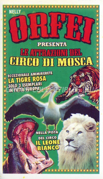 Nelly Orfei Circus Ticket/Flyer - Italy 2013