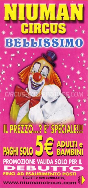Niuman Circus Ticket/Flyer - Italy 2012