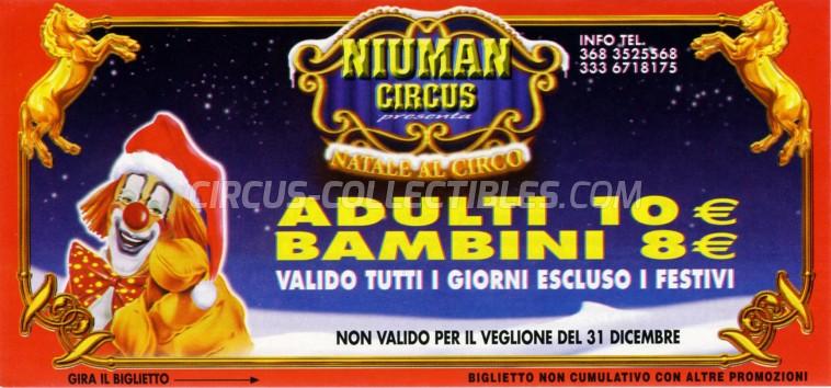 Niuman Circus Ticket/Flyer - Italy 2008