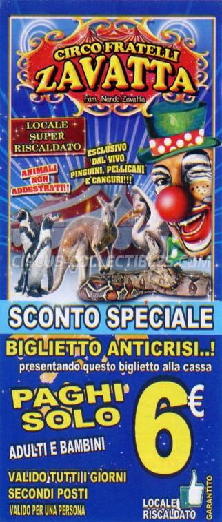 Fratelli Zavatta Circus Ticket/Flyer - Italy 2019