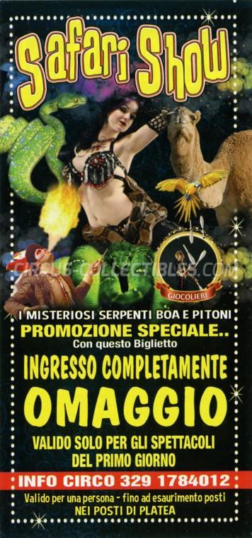 Safari Show Circus Ticket/Flyer -  0