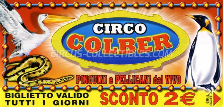 Colber Circus Ticket/Flyer - Italy 2007