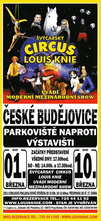Louis Knie Circus Ticket/Flyer - Czech Republic 2013