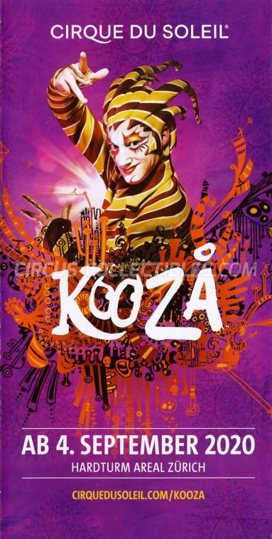 Cirque du Soleil Circus Ticket/Flyer - Switzerland 2020