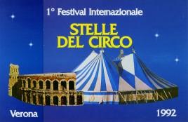 1° Festival Internazionale Stelle del Circo Circus Ticket - 1992